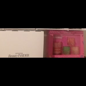 Lip masks, deluxe and full size fragrances